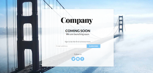 Coming Soon Page Templates