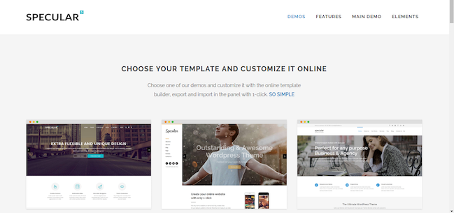 specular wordpress