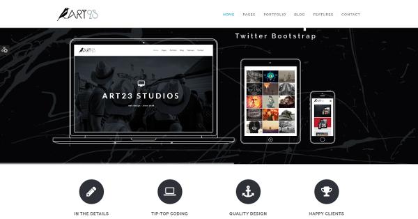 12.Art23 – Creative Html5 Portfolio Template