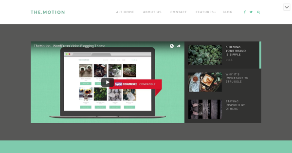 13.TheMotion Video Blogging WordPress Theme