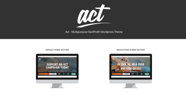 14.Act Multipurpose Nonprofit WordPress Theme