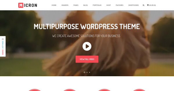 16.Micron Retina Multi-Purpose WordPress Theme