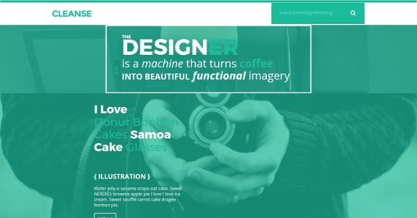 18.Cleanse – Minimal Portfolio HTML Template