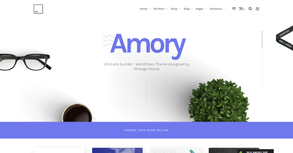 19.Amory Responsive Multipurpose WordPress Theme