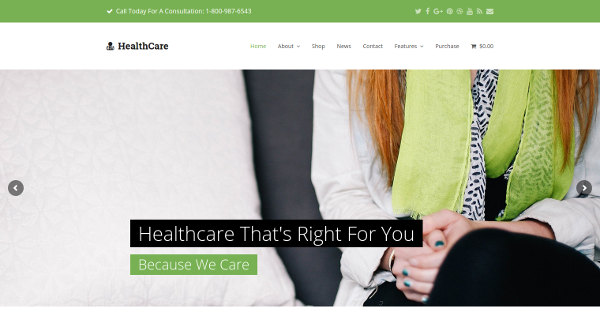 2.Healthcare Professional Small Business Total WordPress Theme Demo