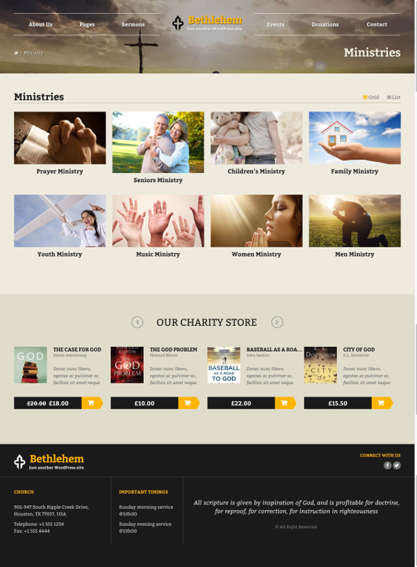 20.Bethlehem Church & Donations WordPress WooCommerce Theme