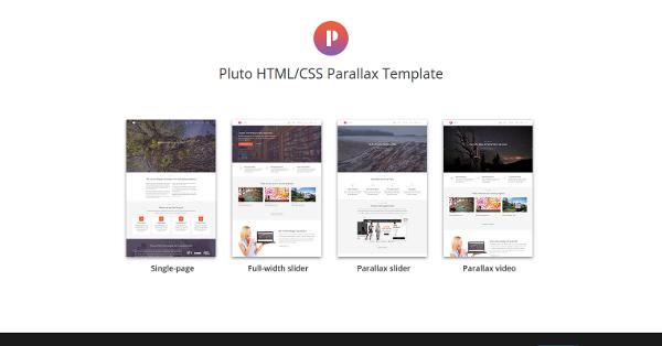 21.Pluto HTML CSS Parallax Template