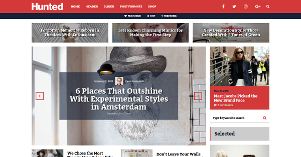 24.Hunted Editorial Magazine WordPress Theme