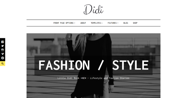 29.Didi Stylish Fashion Blogging WordPress Theme