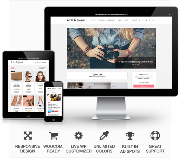 3.Chic Blog & WooCommerce Store WordPress Theme
