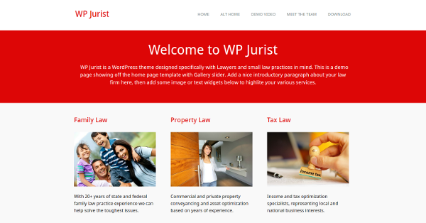 3.WP Jurist – Free Responsive Law WordPress Theme