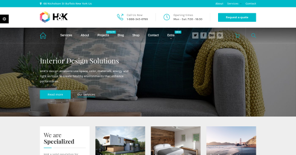 30.H&K Business and Architecture WordPress Theme