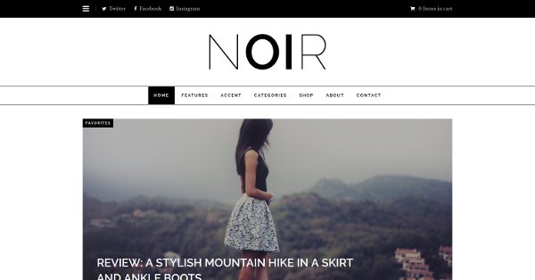 32.Noir Responsive Blogging & eCommerce WordPress Theme