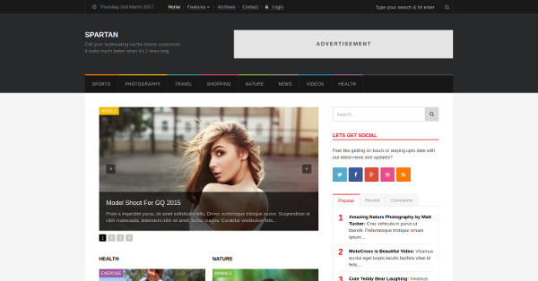 33.Spartan News Magazine & Blog WordPress Theme