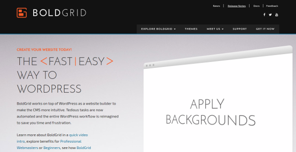 4.Bold Grid for WordPress– Free with Hosting