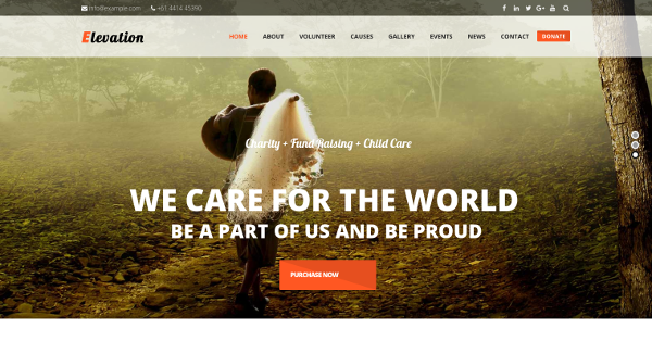 4.ELEVATION Charity, Nonprofit and Fundraising WordPress Theme