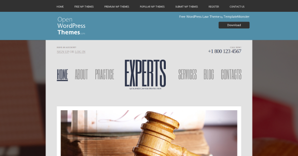 4.Free Lawyer WordPress Theme