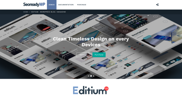 5.Editium Clean WordPress Blog Magazine Theme