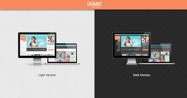 5.Gemiz – Portfolio HTML Template
