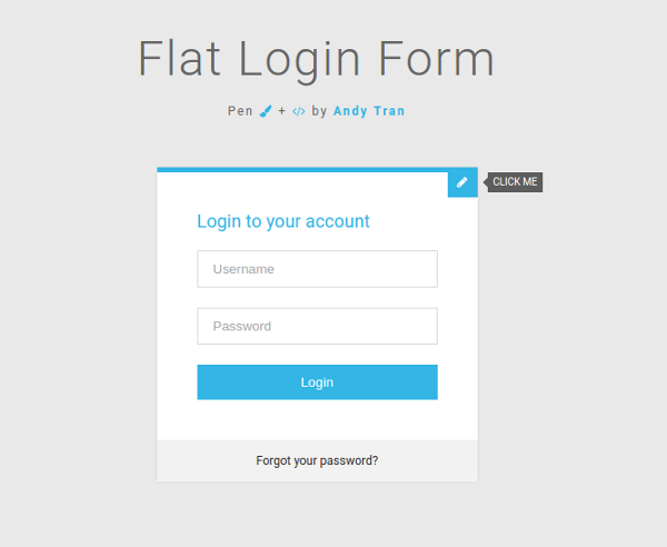 6.Login Form with Create Account