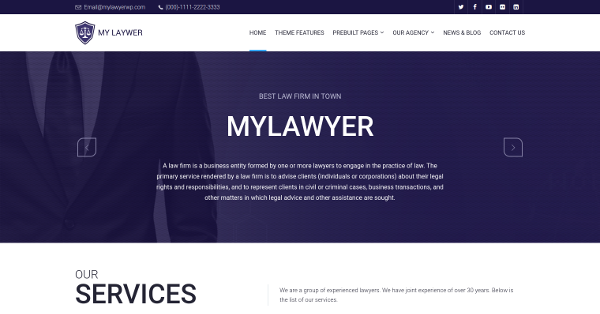 6.My Lawyer – WordPress Theme
