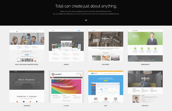 6.Total Drag & Drop WordPress Theme