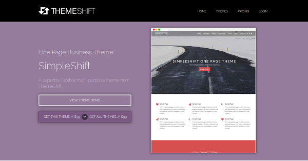 7.SimpleShift One Page Business WordPress Theme