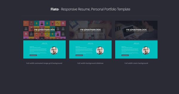 9.Flato – Responsive Resume, Personal Portfolio Temp