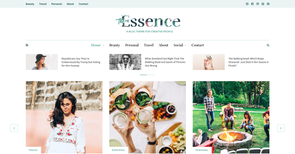 9.The Essence A Responsive WordPress Blog Theme