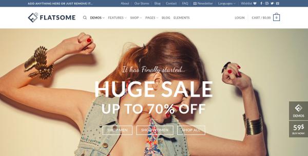 Flat Website Design Templates