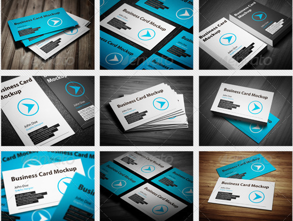Business cards mockup clean and easy to use business card mockups present your business cards in 15 perfect angles including real depth of field ligh effect and texture inside reheart Gallery