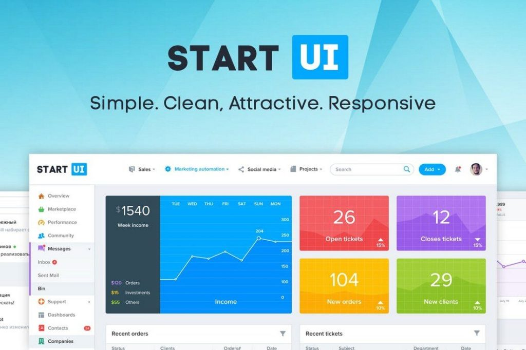 100+ Free And Premium Collection Of Admin Templates 2018