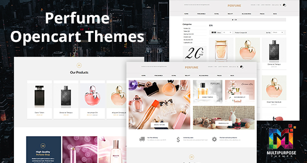 Perfume Store 6 Responsive Opencart Themes By MultiPurpose