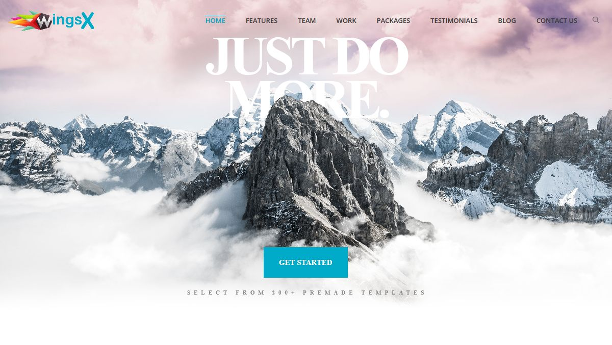 Creative WingsX HTML Templates - One Page Parallax